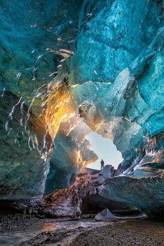 Ice Cave Sunrise, Iceland