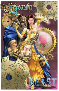 Steampunk Beauty and the Beast Colors by SorahShibao on deviantART