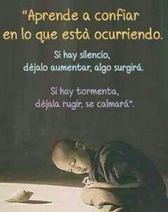 Si hay silencio, dejalo aumentar, algo surgirá. Si hay tormenta, dejala rugir, se calmara.   π∆zo