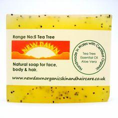 Tea Tree Organic Soap  Handmade Soap  Vegan by NewDawnOrganicSkin