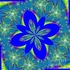 """This lovely kaleidoscope was digitally created from a fractal and would be a beautiful addition to your home, office, or anywhere. The """"Fine Art America"""" watermark (in the lower right corner) will NOT be on your purchased product.  Prices start at $4.30"""