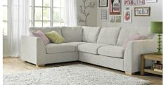 Right Hand Facing 2 Seater Corner Sofa Sherbet | DFS