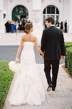 Strapless Vera Wang Wedding Dress