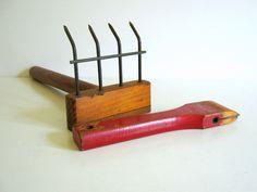 Primitive Garden Rake Red Devil Scraper by RollingHillsVintage, $22.00