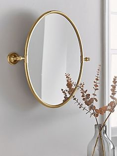 Wall Mirrors Uk, Bathroom Wall Lights, Vanity Mirrors, Bathroom Mirrors, Bathroom Ideas, Bathroom Inspiration, French Mirror, Oval Mirror, French Bathroom
