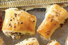 """Recipe: Mushroom Puffs  Mushroom Puffs are a quick and easy appetizer that your friends and family will love. One online reviewer says """"very tasty and easy to make!!"""