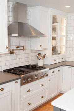 Sophisticated Nostalgia Kitchen in Deer Park transitional-kitchen
