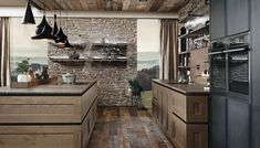 """Today industrial design is very famous due to the low cost and unique look. Today we are here with a collection of Industrial Kitchen Design Ideas"""" for your inspiration. Industrial Kitchen Design, Industrial House, Cottage Kitchens, Modern Farmhouse Kitchens, Chalet Design, House Design, Chalet Modern, Chalet Ski, Aspen House"""