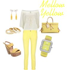 Mellow Yellow, created by natalie-buscemi-hindman.. I love yellow for spring/summer!