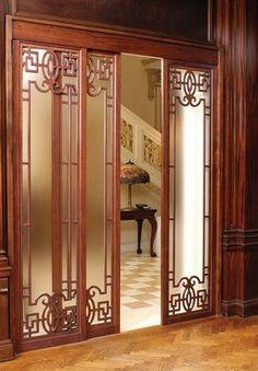 Pinecrest, Inc. Door Design Interior, Interior Design Living Room, Living Room Decor, Living Room Partition, Room Partition Designs, House Doors, Room Doors, Room Divider Walls, Sliding Door Design