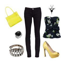 yellow, created by jennfurious on Polyvore