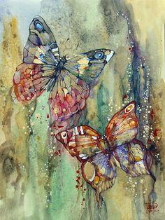 Marina-Podgaevskaya  Two Butterflies