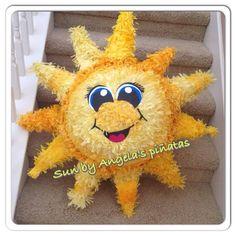 Vintage Sun Custom Hand Made Piñata Sun And Moon by angelaspinatas, $68.00