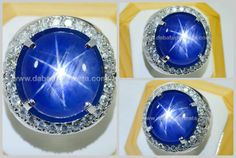★ Natural Elegant Royal Blue SAPPHIRE Star NH ★ Code : SPS 165 + Sertifikat Nama : Blue SAFIR Star Asal/Origin : Burma Berat Batu : 36.5 ct Berat Total : - Size/Ukuran : 18.8 x 17.2 x 10.2 mm Shape/Bentuk : Roundish Oval Transparancy : Translucent Color/Warna : Royal Blue Clarity : Semy Slightly Cutting Style : Double Cabochon Ring/Kerangka : Gold Diamond Eropa Phenomena : Asterism