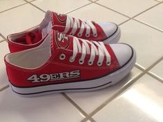 49Erswomans Red Tennis Shoes  #Unbranded #SanFrancisco49ers