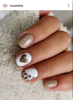 Cute Gel Nails, Pretty Nails, Western Nails, Deluxe Nails, Leopard Print Nails, Simple Acrylic Nails, Modern Nails, Nails Only, Creative Nails