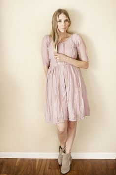Soft Pink Lace Emily Dress