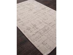Clayton Jaipur Hand-Tufted Geometric Pattern Gray Wool/Art Silk Area Rug CLN12