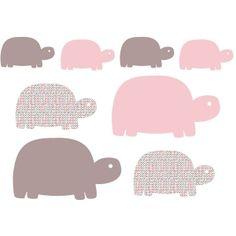 Stickers enfant Famille Tortues