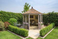 Choose from over 100 luxury garden summerhouses. Visit our extensive summerhouse display centre in Wiltshire, UK Garden Huts, Garden Cabins, Garden Gazebo, Garden Cottage, Backyard Patio, Backyard Landscaping, Outdoor Garden Rooms, Garden Playhouse, Corner Summer House