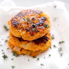 Sweet Potatoe & Quinoa Patties (recipe in link)