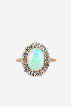opal + diamond vintage ring. loveee!