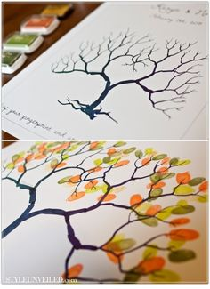 Fingerprint Tree - Everyone in the family add their thumb- or fingerprint