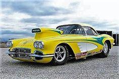 Drag Racing - Complete Race Cars for Sale 1961 Corvette, Chevrolet Corvette, Chevy Ssr, Corvette Summer, Vintage Race Car, Hot Rides, Drag Cars, Drag Racing, Hot Cars