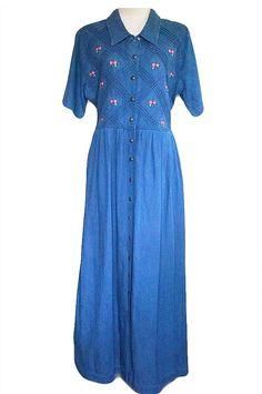 Check out this item in my Etsy shop https://www.etsy.com/uk/listing/464644259/blue-denim-dress-full-length-dress
