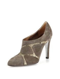 Suede & Crystal Bootie by Rene Caovilla at Gilt