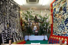 岩戸山の会所飾り。見送りが2種類あります。 祇園祭 京都 kyoto gion festival