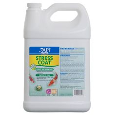 Gallon Pond Care Stress Coat for fish is a unique water conditioner that replaces the natural slime coating on the skin of pond fish when if has been damaged by handling, netting or other forms of stress. Instantly removes chlorine and conditions tap wa