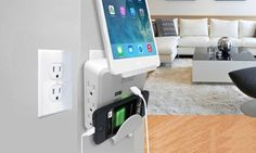 Hype Volt Mobile-Device Power Station with 2 USB Ports and 6 AC Outlets