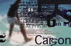 David Carson – Major Influence Nr. 2 | santaritadesign