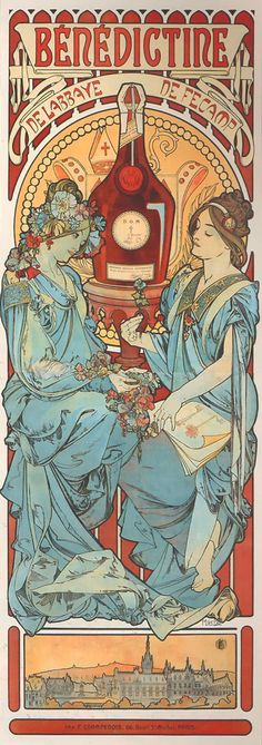 night-birds: Alphonse Mucha - Bénédictine [1898]
