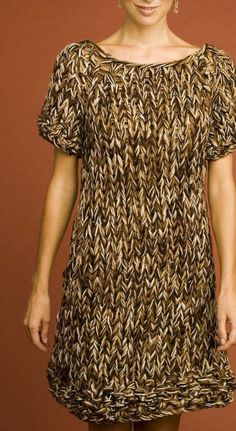Lion Brand sweater dress pattern