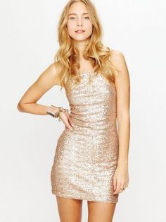 Backstage Glam Life Dress - Champagne | Bodycon Clothes, Accessory & Clothing