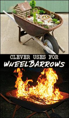 Don't let that wheelbarrow go to waste. There are lots of ways to repurpose it!