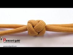 2 strand gaucho knot button - YouTube