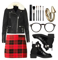 """School of Rock"" by rock-with-me ❤ liked on Polyvore featuring Alice + Olivia, Topshop, Balenciaga, Moscot, Japonesque, Jennifer Fisher, simpleoutfit and rock"