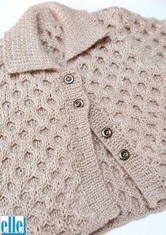 Ravelry: 7567 Honeycomb Jacket pattern by Elle Yarns Baby Boy Knitting Patterns, Knitting For Kids, Double Knitting, Baby Patterns, Knitting Yarn, Baby Knitting, Crochet Patterns, Free Crochet, Knit Crochet