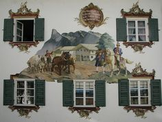Oberammergau, Germany. One of the prettiest little hamlets in Germany! TG. I have through there many times.