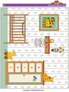 baby room art for paper doll play Diy Barbie Furniture, Dollhouse Furniture, Fabric Houses, Paper Houses, Paper Doll House, Homemade Dolls, Diy And Crafts, Paper Crafts, Baby Room Art