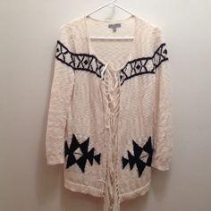 Olivia sky size m Cardigan Asteca  print use but good condition 100% cotton Olivia sky Sweaters Cardigans