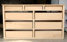 Learn how to build a DIY 9-Drawer dresser with this in-depth step-by-step tutorial and free design plans by Jen Woodhouse of The House of Wood.