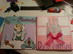 Alphabet Disneyland scrapbook