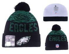 Men's / Women's Philadelphia Eagles New Era NFL 2016 On-Field Sports Knit Pom Pom Beanie Hat - Green / Black