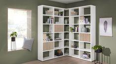 Étagère - Étagère BOON avec des portes en blanc Bookshelves, Bookcase, Cube Storage Unit, Dressing, Home Libraries, Corner Shelves, File Folder, Lounge, Office