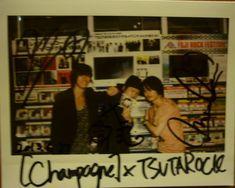 [Champagne]川上洋平・白井眞輝・庄村2013/6/28 CD販売担当アサダです! 昨日遊びに来て下さったお客様!! [Champagne]皆様です。(Ba.の磯部さんはご欠席でした)/SHIBUYA TSUTAYA