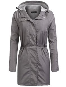 b6c90caee7b Women s Waterproof Jacket Lightweight Hoodie Rain Coat Windproof Hiking Coat  S-XXL - Grey - CS187N3MH2K